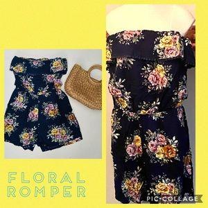 NWT Alexis Plus Size Floral Romper